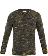 Balenciaga Camo honeycomb knit sweater