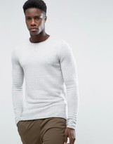 Selected Rib Crew Neck Jumper
