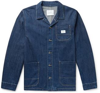Saturdays NYC Lido Logo-Appliqued Denim Chore Jacket - Men - Blue