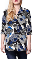 Yumi Printed Tunic Top, Multi