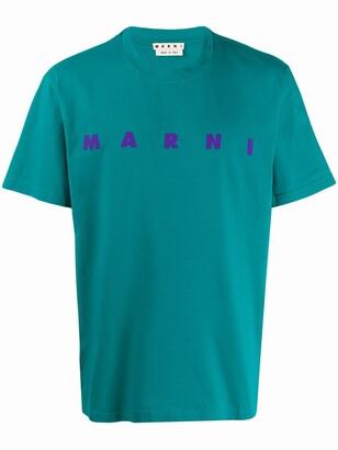 Marni front logo print T-shirt