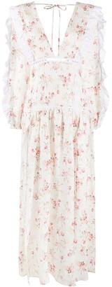 Wandering V-neck floral print dress