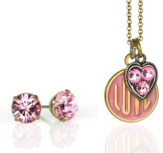 Swarovski Anne Koplik Crystal Charm Necklace &Earrings