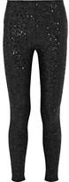 Saint Laurent Sequined Stretch-jersey Leggings - Black