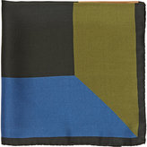 Barneys New York Men's Geometric Silk Pocket Square