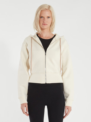 Varley Abourne Braided Drawstring Crop Hoodie