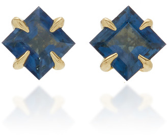 Ila Primary Princess 14K Gold Blue Sapphire Earrings