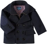 Andy & Evan Pea Coat (Baby) - Navy-12-18 Months