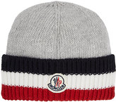Moncler Wool Striped-Cuff Hat-GREY, RED, WHITE, NAVY