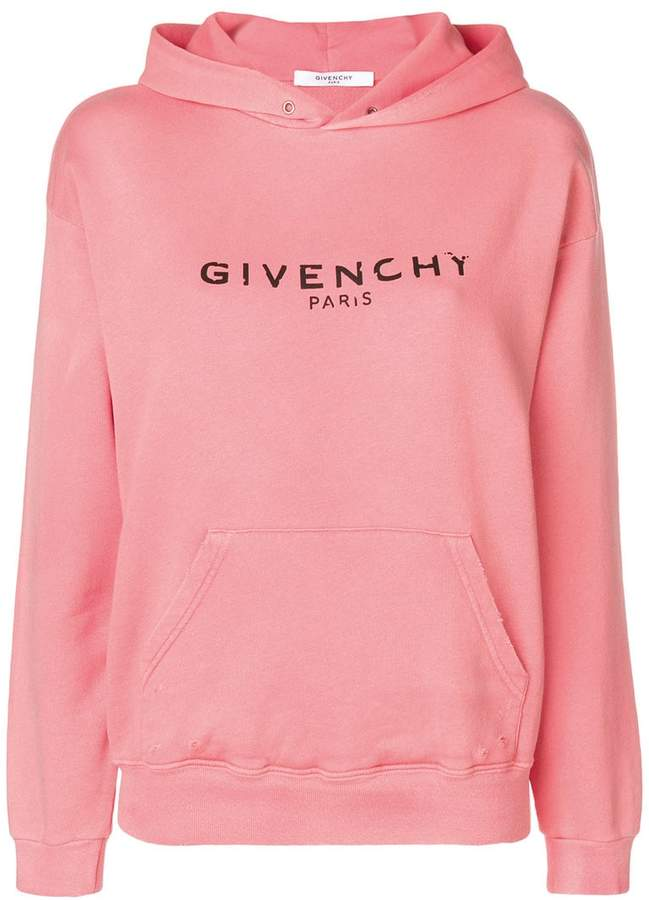 Givenchy Blurred Paris print hoodie