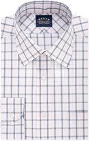 Eagle Non-Iron Slim-Fit Saphire Blue Check Dress Shirt
