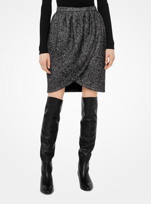 Michael Kors Herringbone Wool Tulip Skirt