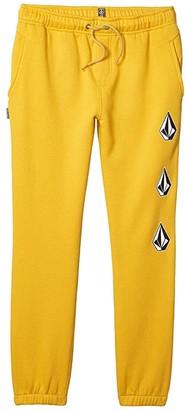 Volcom Deadly Stones Fleece Pants (Little Kids/Big Kids) (Gold) Boy's Clothing
