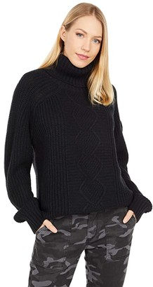Obermeyer Remy Turtleneck Sweater (Black) Women's Clothing