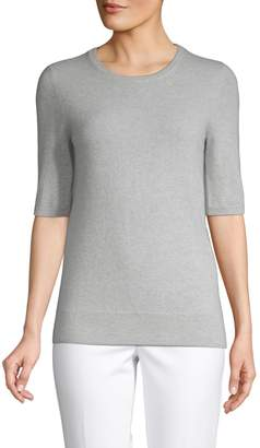Saks Fifth Avenue Cashmere Elbow-Sleeve Cashmere Sweater