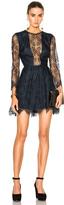 Michelle Mason Lace Mini Dress Carbon