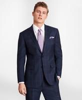 Brooks Brothers BrooksGate Milano-Fit Windowpane Wool Twill Suit Jacket