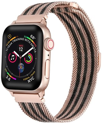 Posh Tech Striped Stainless Steel Loop Band for Apple Watch Series 1, 2, 3, 4, 5