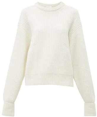 Chloé Ribbed Wool-blend Sweater - Womens - Ivory