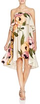 Tracy Reese Strapless Floral Flounce Dress