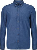 John Lewis Denim Cotton Shirt, Indigo