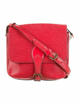 Louis Vuitton Vintage Epi Cartouchiere MM Red