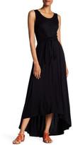 Spense Tie Hi-Lo Maxi Dress