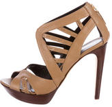 Fendi Leather Cutout Sandals