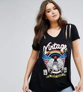 Koko Shredded Shoulder New York T-Shirt