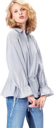 Find. Women's Shirt Stripes and Oversized Drawstring Waist