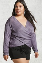 Forever 21 FOREVER 21+ Plus Size Surplice Sweater
