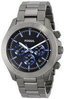 Fossil Men's CH2869 Retro Traveler Smoke-Tone Stainless Steel Watch