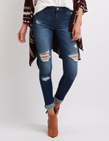 "Charlotte Russe Refuge """"Skin Tight Legging"""" Destroyed Jeans"