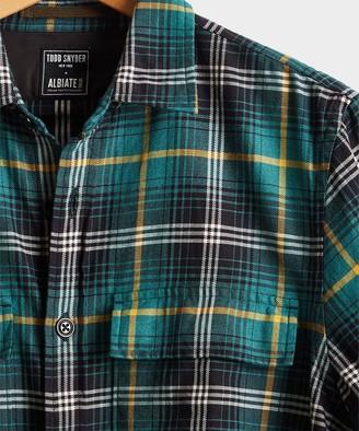 Todd Snyder Vintage Plaid Shirt Jacket in Green