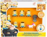 Minions 8 pack 3D puzzle erasers