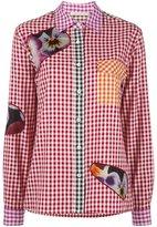 Christopher Kane gingham shirt - women - Cotton/Nylon/Polyester - 42
