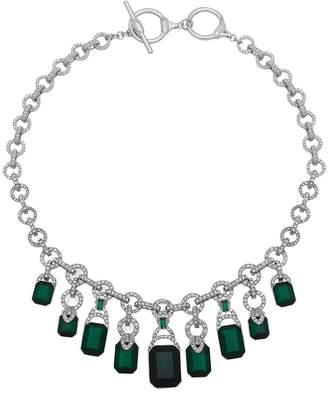 "Ralph Lauren Pavé Chain & Toggle Statement Necklace, 16"""