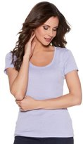 M&Co Plain scoop neck t-shirt