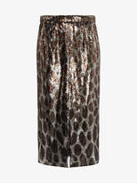 Marco De Vincenzo leopard print embellished skirt