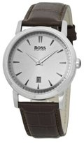HUGO BOSS 1512636 Gents Stainless Steel Watch with Brown Leather Strap