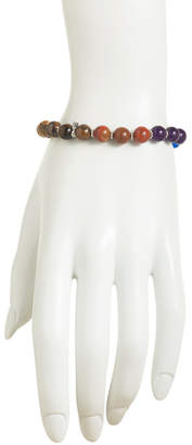 Made In India Sterling Silver Multi Gemstone Beaded Bracelet