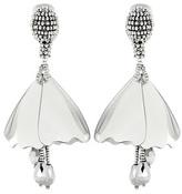 Oscar de la Renta Impatiens Flower Drop Beaded Clip-on Earrings