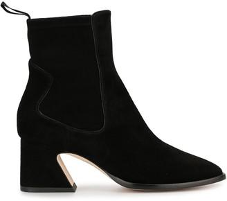 Alberta Ferretti Square-Toe Ankle Boots