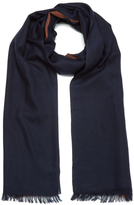Paul Smith Accessories Houndstooth Block Scarf Navy