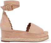 Chloé Lauren Suede Espadrille Platform Sandals - IT36