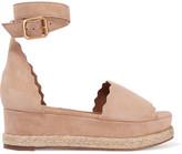 Chloé Lauren Suede Espadrille Platform Sandals - IT38