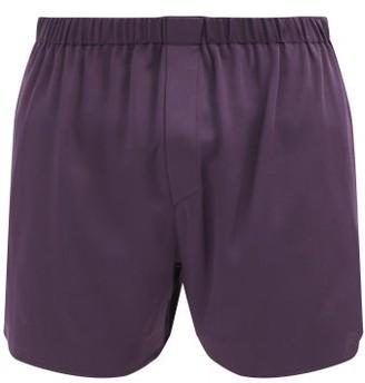 Ludovic de Saint Sernin Boxer Silk-satin Shorts - Dark Purple
