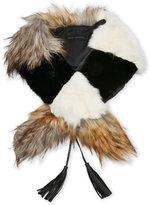 Steve Madden Mixed Media Faux Fur Collar
