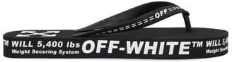 Off-White Off White Logo Flip Flops