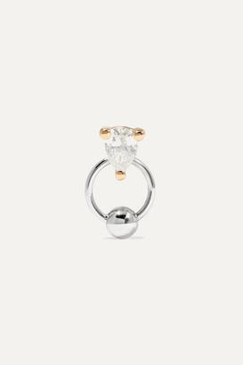 Delfina Delettrez 18-karat White And Yellow Gold Diamond Earring - one size